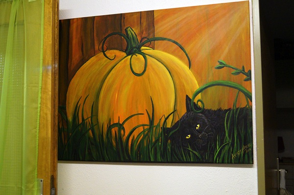 Traditional  Pumpkin and Cat