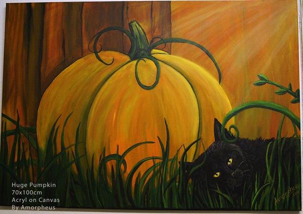 Traditional Art Huge Pumpkin